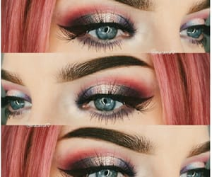 aesthetic, make-up, and pink hair image
