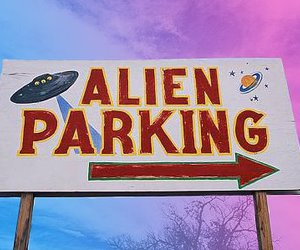 alien, grunge, and parking image