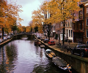 amsterdam, autumn, and canals image