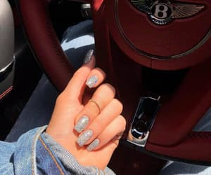nails, car, and glitter image