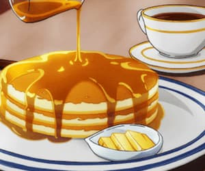 aesthetic, anime, and pancakes image