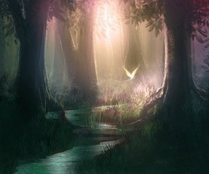 fairy, forest, and nature image