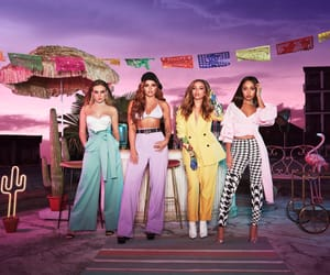 album cover, colours, and girl group image