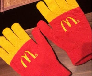 gloves, mc donalds, and mces image