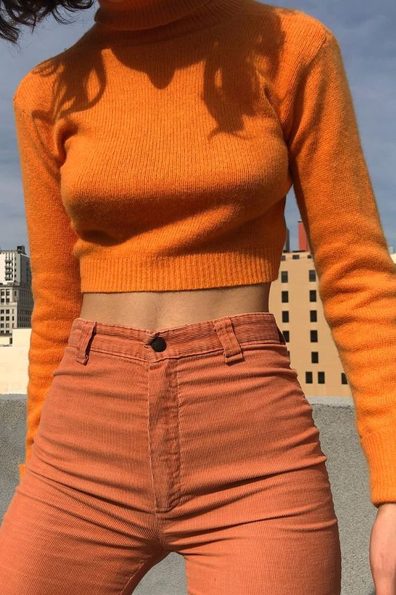 orange, fashion, and aesthetic image