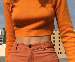 orange, fashion, and aesthetic image