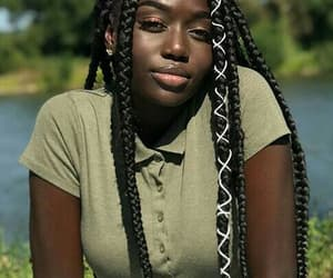 hair, melanin, and box braids image