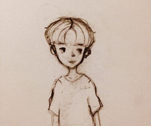 boy, doodle, and drawing image