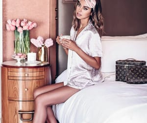 bed, floral, and lifestyle image