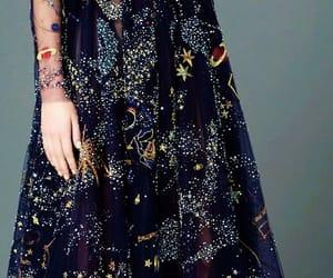 dress, fashion, and galaxy image