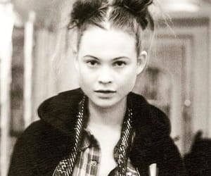 b&w, Behati Prinsloo, and space buns image