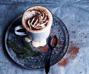winter, coffee, and beauty image
