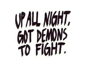demons, night, and quote image