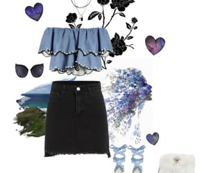 blue, fashion, and spring image