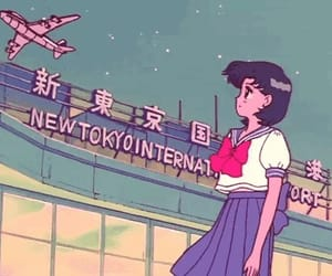 airport, anime, and sailor mercury image