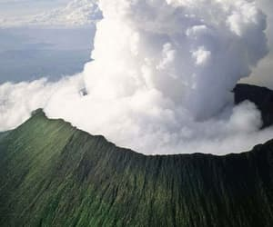 volcano, nature, and theme image
