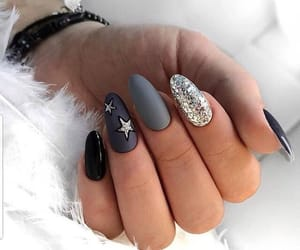 nails, manicure, and moda image