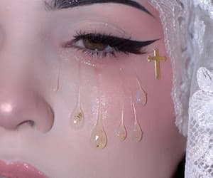 makeup, aesthetic, and tears image