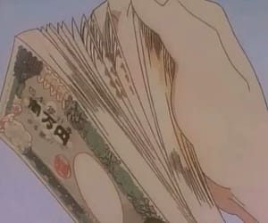 anime, money, and aesthetic image