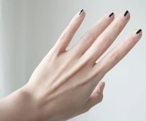 nails, hand, and black image
