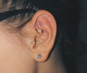 diamond, tragus, and piercing image
