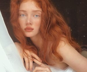 redhead, aesthetic, and beautiful image