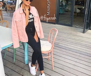 adidas jacket, shoes sneakers, and fashion style image