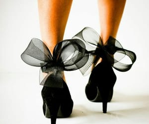 black heels, high heels, and sexy shoes image