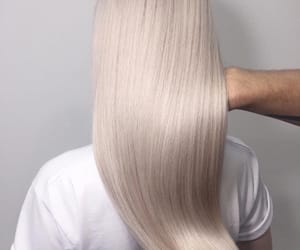 blond hair, luxurious, and hair image