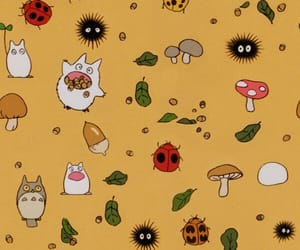 background, ghibli, and pattern image