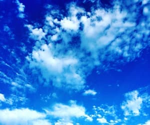 clouds, white, and blue image