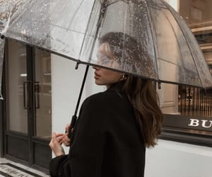 girl, style, and rain image