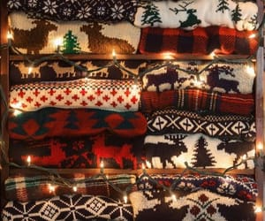 christmas, light, and sweater image