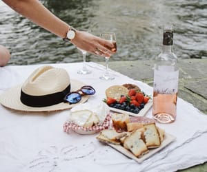 fruit, picnic, and wine image