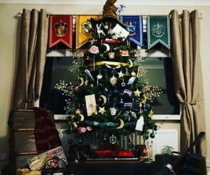 christmas tree, harry potter, and merry christmas image