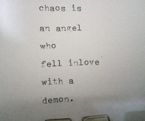 angel, chaos, and quotes image