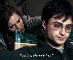 daniel radcliffe, harry potter, and hermione granger image