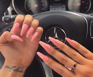 nails, pink, and car image