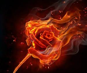 art, dark, and flames image