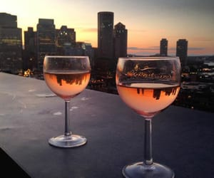 city, drink, and wine image