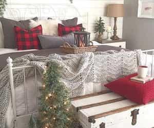 bedroom, christmas, and bedroom decor image