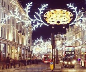 britain, christmas, and christmas lights image