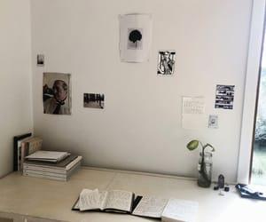 college, desk, and desks image