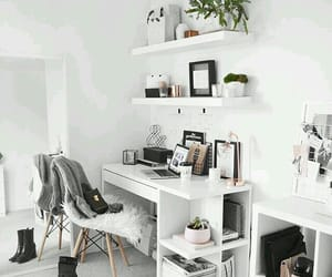 home, decor, and desk image