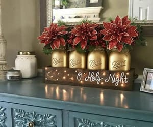 christmas, decoration, and flower image