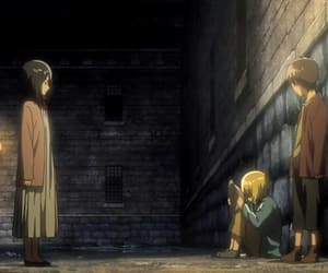 armin, mikasa, and attack on titan image