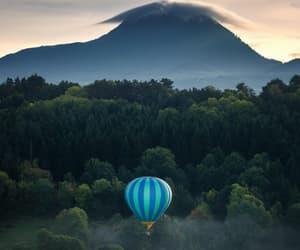 cloud, Flying, and hot air ballon image