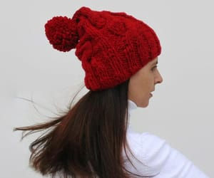 etsy, winter hat, and bobble hat image