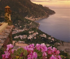 flowers, landscape, and italy image
