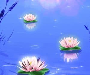 aquatic, art, and blooming image
